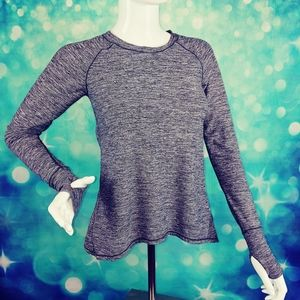 90 degree by reflex long sleeve active top size 12